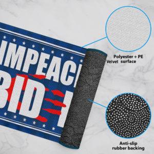 6 Rug Anti Biden Blood On His Hands Bloody Hand Impeach Biden Indoor Doormat