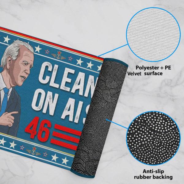 6 Rug Anti Biden Clean Up On Aisle 46 Impeach Biden Indoor Doormat