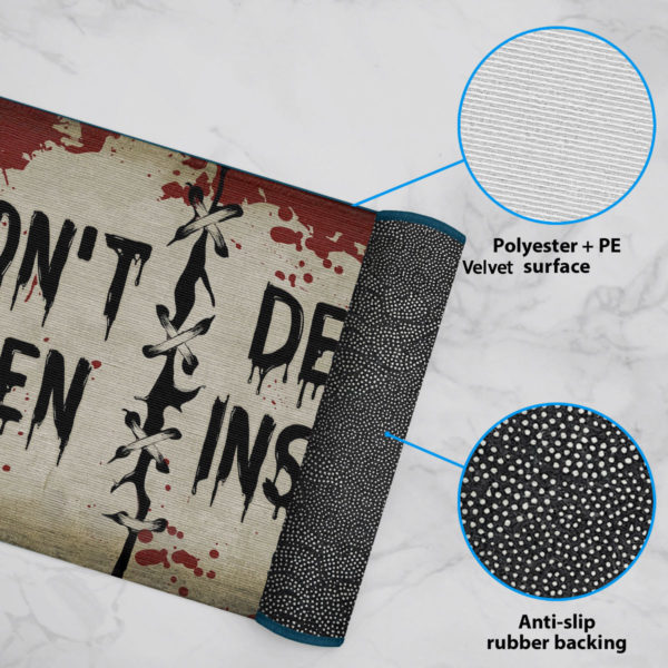 6 Rug Dont Open Dead Inside Halloween Zombie Doormat