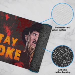 6 Rug Freddy Stay Woke Horror Halloween Doormat