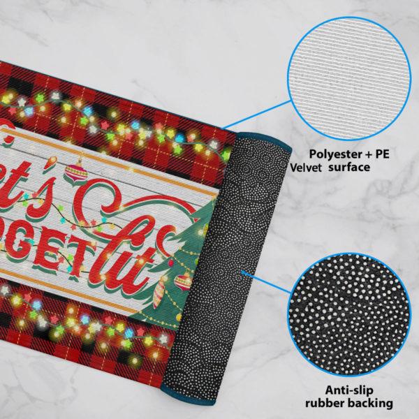 6 Rug Lets Get Lit Funny Christmas Doormat