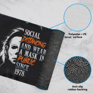 6 Rug Michael Myers Social Distancing And Wearing A Mask In Public Since 1978 Halloween Doormat