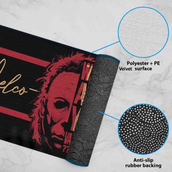 6 Rug Michael Myers Wait Are You Vaccinated Halloween Warning Doormat