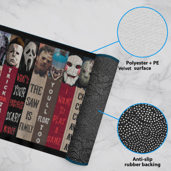 6 Rug Movie Characters Halloween Horror Decorative Doormat