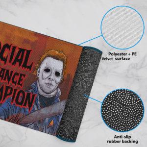 6 Rug Myers Social Distance Champion Serial Killer Halloween Doormat