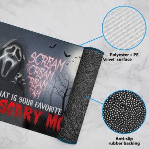6 Rug Scream Creepy What Is Your Favorite Scary Movie Halloween Doormat