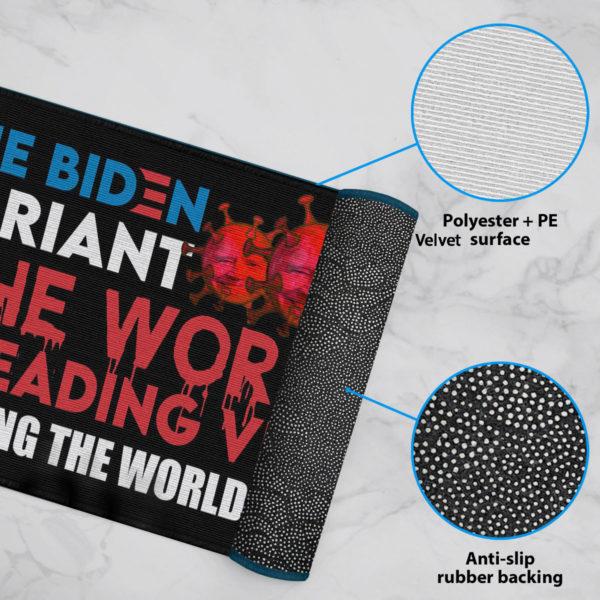 6 Rug The Biden Variant The Worst Spreading Virus Plaguing The World Today Joe Biden Doormat