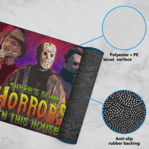 6 Rug There Is Some Horrors in This House Halloween Horror Characters Doormat