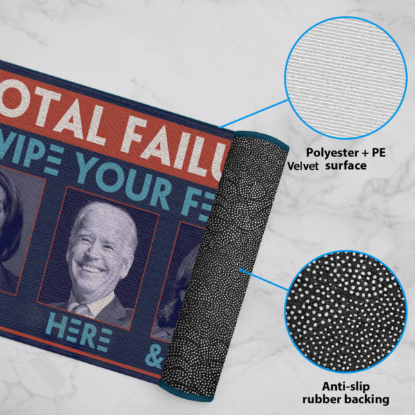6 Rug Total Failure Wipe Feet Here Anti Biden Doormat