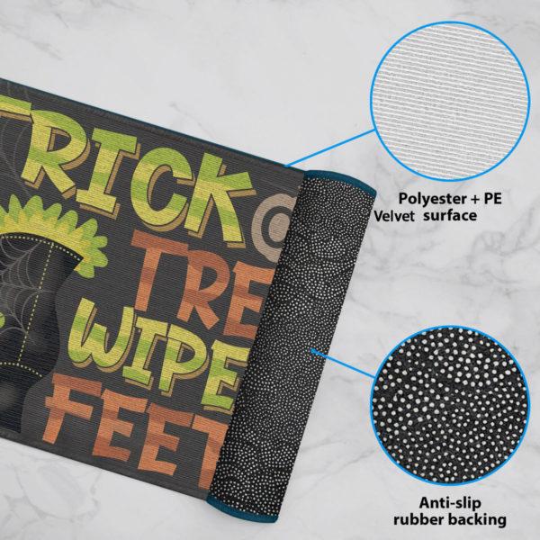 6 Rug Trick Or Treat Wipe Your Feet Witch Halloween Doormat