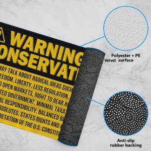 6 Rug Warning Conservative Funny Political Warning Doormat