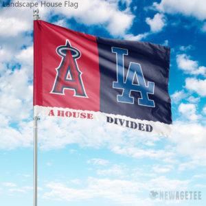 Los Angeles Dodgers vs Los Angeles Angels House Divided Garden Flag House Baseball Flag
