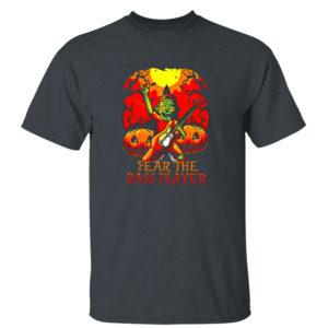 Dark Heather T Shirt Zombie Fear The Bass Player Pumpkin Halloween shirt