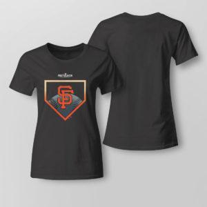 Lady Tee San Francisco Giants Fanatics Branded 2021 Postseason Around the Horn T Shirt
