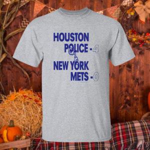 T Shirt Sport grey Houston police 4 new york mets 0 shirt