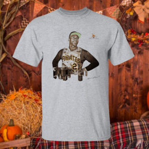 T Shirt Sport grey Marlins News Roberto Clemente Day shirt