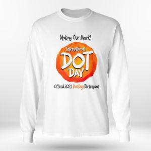 Unisex Longsleeve shirt International Dot Day National Awareness Days Calendar 2021 Shirt