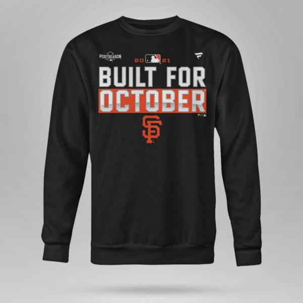 Unisex Sweetshirt San Francisco Giants Fanatics Branded Black 2021 Postseason Locker Room T Shirt