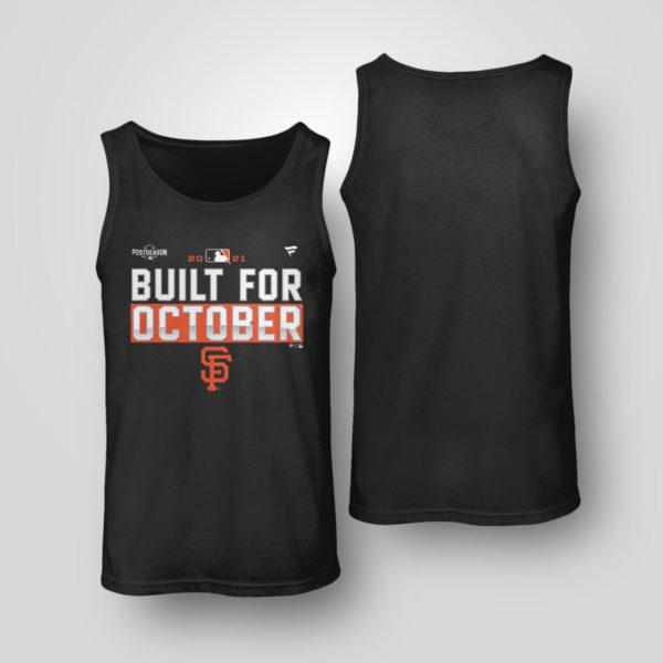 Unisex Tank Top San Francisco Giants Fanatics Branded Black 2021 Postseason Locker Room T Shirt
