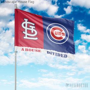 Chicago Cubs vs St. Louis Cardinals House Divided Garden Flag House Baseball Flag
