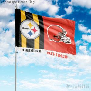 Pittsburgh Steelers vs Cleveland Browns House Divided Garden Flag House Baseball Flag