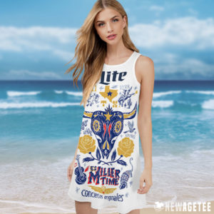 Miller Lite It's Miller Time In Texas Costume Maxi Dress