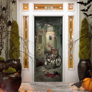 Horror Movie Halloween Door Cover Decorations for Front Door