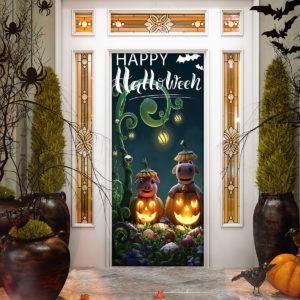 Happy Halloween Door Cover Decorations for Front Door