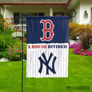 Boston Red Sox vs New York Yankees House Divided Garden Flag House Baseball Flag