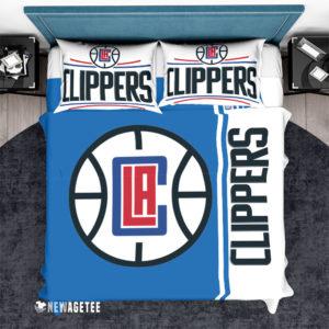 Bedding Set LA Clippers NBA Basketball Duvet Cover and Pillow Case Bedding Set