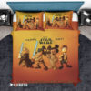 Bedding Set Mickey Mouse Minnie Mouse Disney Star Wars Happy Day Duvet Cover and Pillow Case Bedding Set