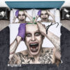 Bedding Set Suicide Squad Jared Leto Joker Signed Duvet Cover and Pillow Case Bedding Set