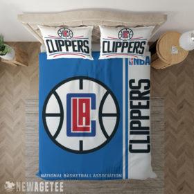 Bedding Sheet LA Clippers NBA Basketball Duvet Cover and Pillow Case Bedding Set