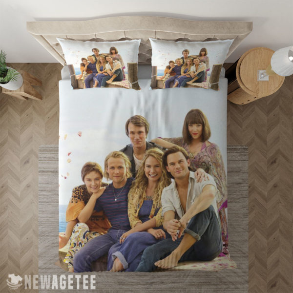 Bedding Sheet Mamma Mia Here We Go Again Movie Duvet Cover and Pillow Case Bedding Set