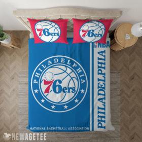 Bedding Sheet Philadelphia 76ers NBA Basketball Duvet Cover and Pillow Case Bedding Set