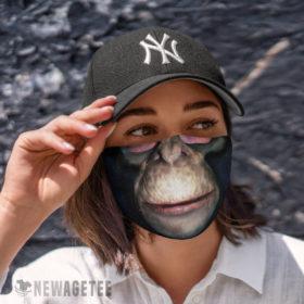 Cloth Face Mask Chimpanzee Gorilla Face Mask Halloween Costume