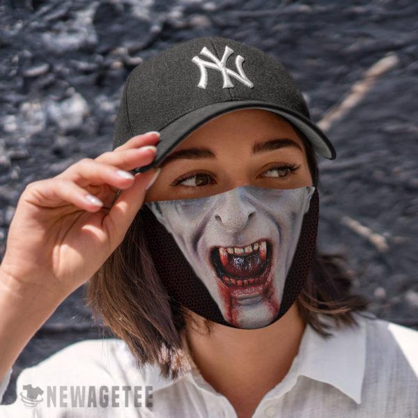 Cloth Face Mask Count Dracula Cosmetics Vampire Face Mask