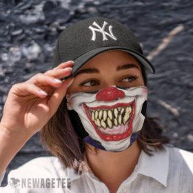 Cloth Face Mask Evil clown Face Mask Halloween costume