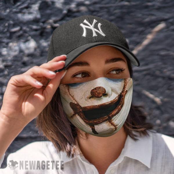 Cloth Face Mask Evil clown It Face Mask Halloween costume