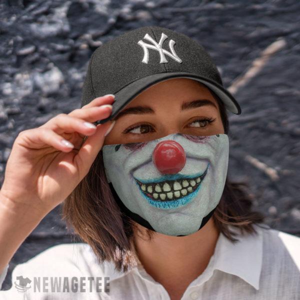 Cloth Face Mask Evil clown Masquerade ball Face Mask