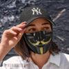 Cloth Face Mask V Guy Fawkes Face Mask Masquerade ball Anonymous