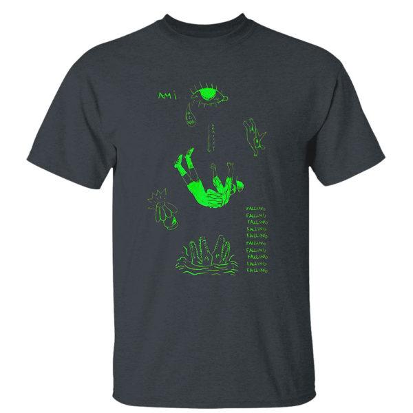 Dark Heather T Shirt Andy Mineo falling shirt