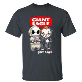 Dark Heather T Shirt Baby Jack Skeleton and Baby Pennywise Giant Eagle shirt