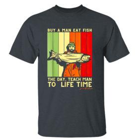 Dark Heather T Shirt Joe Biden Mens Buy a Man Eat Fish the Day Teach Man shirt