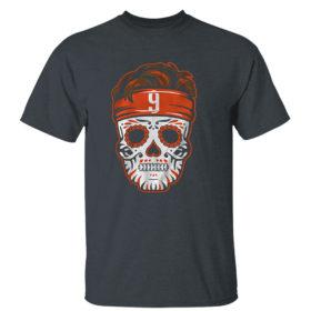 Dark Heather T Shirt Joe Burrow Sugar Skull Shirt