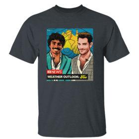 Dark Heather T Shirt Original nate Byrne abc news weather outlook fine shirt