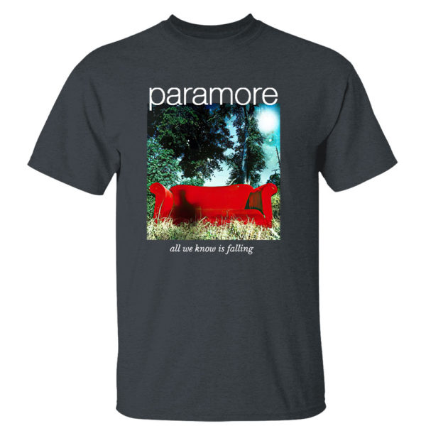 Dark Heather T Shirt Paramore merch all we know is falling shirt