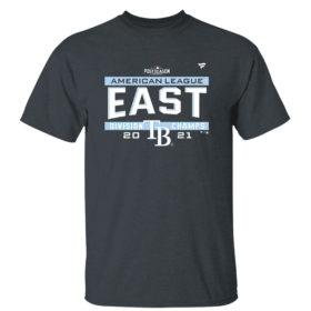 Dark Heather T Shirt Tampa Bay Rays AL East Champions Shirt