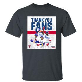 Dark Heather T Shirt Thank You Fans Texas Rangers Straight Up Shirt