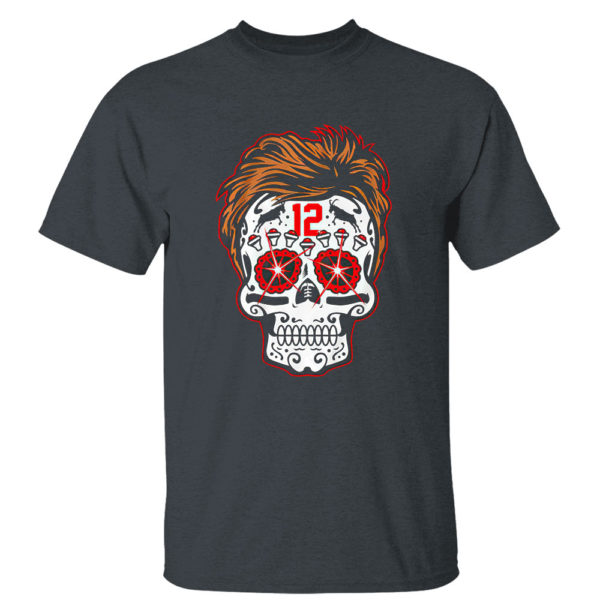 Dark Heather T Shirt Tom Brady Sugar Skull Shirt